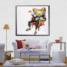 Wholesale cartoon animal handmade modern abstract canvas diamond painting