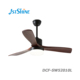 52 or 48 inch European style modern electrical solid wood blades ceiling fan with LED light