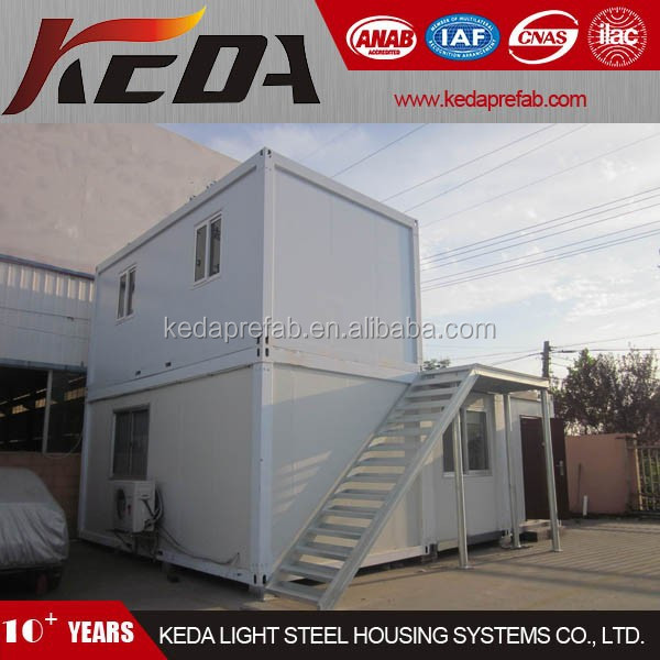Hot Sale Cheap Finished Container House 2 Storey with Stair 379