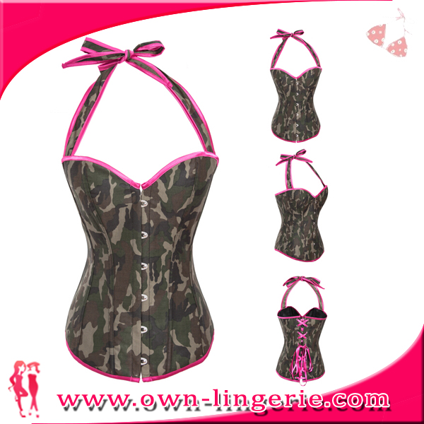 Instyles Sexy Army Overbust Camouflag Corset Plus Size for ladies