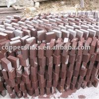 red granite wall brick