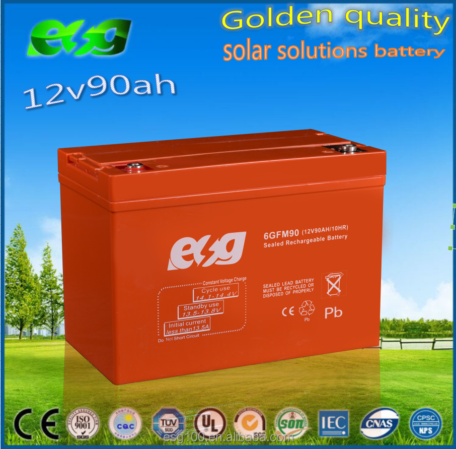12v90ah sealed lead acid battery 12v90ah for security system