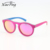 Dropshipping Custom Private Label Oversized Round Pink Wood Temple Polarized Sunglasses