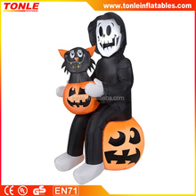 cheap custom halloween Inflatable Reaper's Surprised Pumpkin decoration for sale