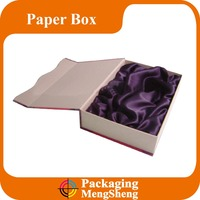 Personalized Cheap Custom design satin lined gift boxes for glass cup and bottle