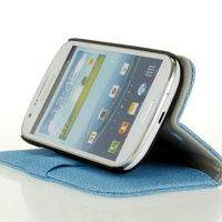 stand PU leather flip case for samsung galaxy express i8730