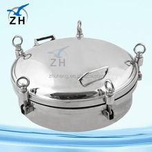 Sanitary stainless steel cast iron manhole cover