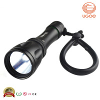 UGOE 1000lm underwater IP68 100m depth diving floating waterproof led flashlight