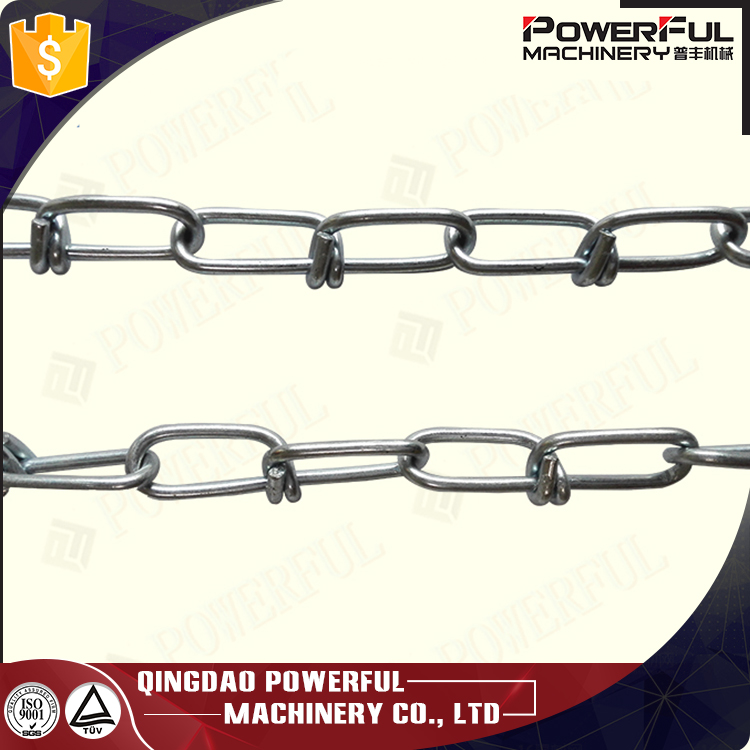 Carbon Steel Galvanized Double Loop Knotted Lifting Chain for rigging dog