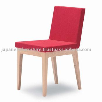 ELETTA simple modern wooden japanese chair fabric