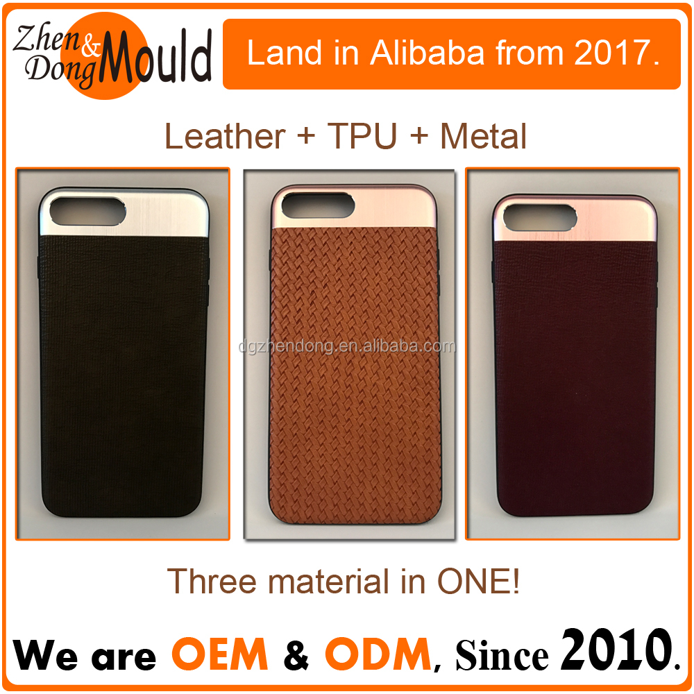 TPU + PC casing and aluminium alloy customized mobile phone case
