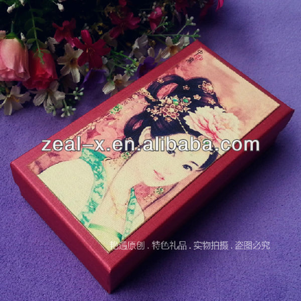 Chinese Traditional Design Recycled Apparel Paper Folded Transparent Box Money Tube Storage Boxes