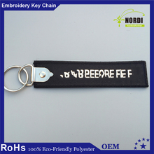 Wholesale Cheap Logo Printed Custom Keychain/Promotional Embroidered key chain