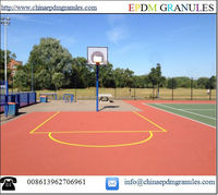 Colourful Indoor & Outdoor Sport Surface Rubber Floor Basketball Courts Rubber Materials/Color EPDM Rubber Granules