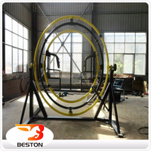 indoor amusement games trailer mounted human gyroscope supplier for sale