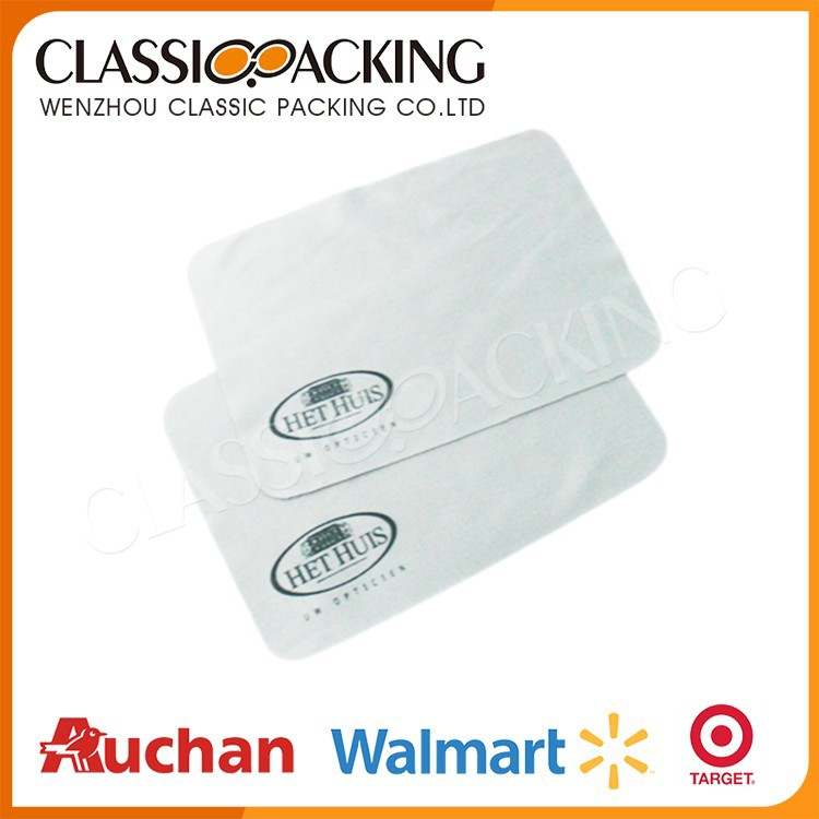 Protective custom eyeglass cleaning cloths