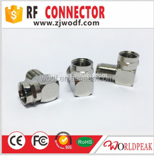 free samples RG6 coaxial cable F female to male right angle rf connector adapter