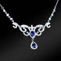 Long Life Span wedding jewelry sets dubai bridal silver necklace