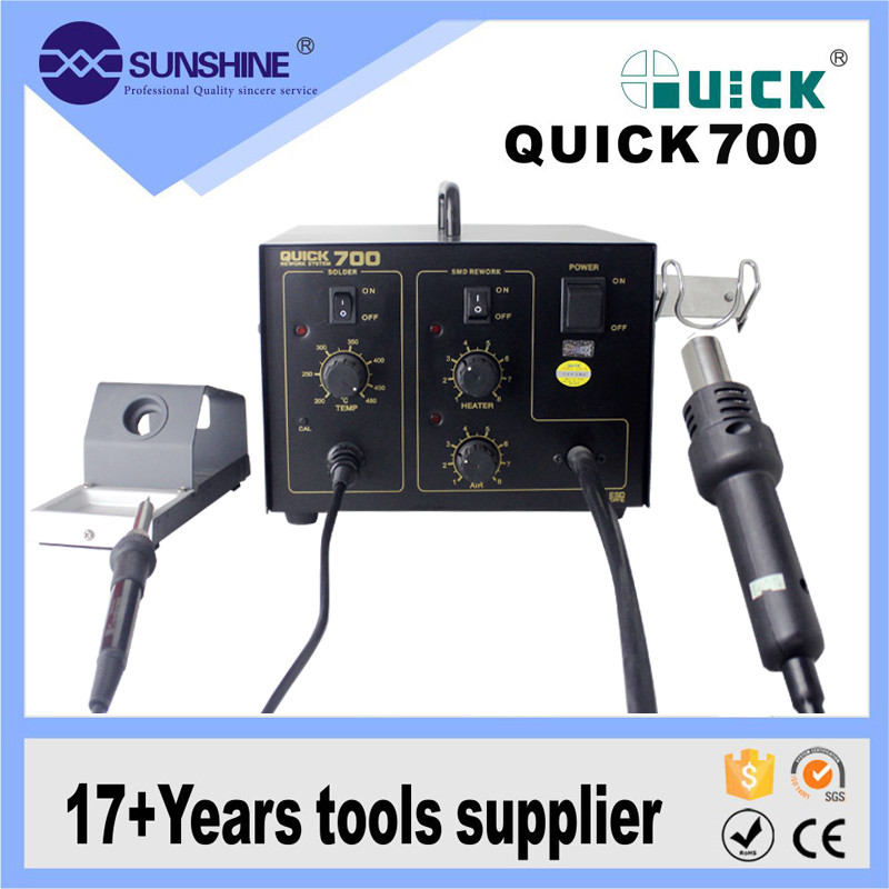 2 in 1 hot air smd rework soldering station for motherboard repairing