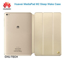 Original Huawei MediaPad M2 Sleep Wake Case 3 Folding Flip Leather Cover M2 8.0 Official Front Flip Cover Funda Smart Dormancy