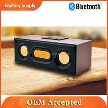 Wooden multi function portable mobile speaker with fm radio,tf card