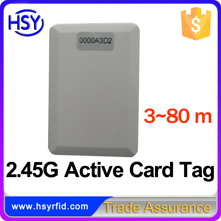 HSY-L006A 2.45Ghz Frequency Long Range Active RFID Card for School Attendance System