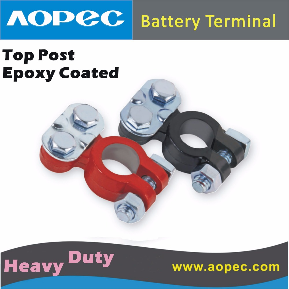 Replacement HEAVY DUTY TOP POST EPOXY COATED car Battery Terminal Connertor Fits for 12V 24V Battery for most post batteries