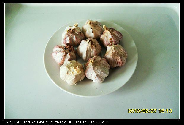 red skin garlic