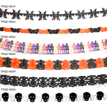 Halloween decoration different witch ghost garland vampire zombie skull paper garland party supplies