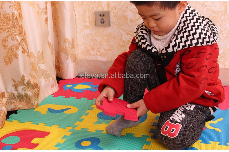 Nice looking high density EVA foam floor mix colors mats for children