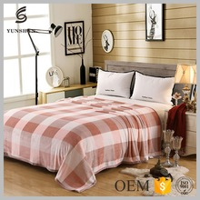 Hot selling comfortable Warm plaid flannel blanket for bed
