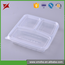 Explosion models blister compartment disposable food trays with lid