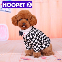 HOOPET comfy stylish hundstooth old fashioned clothes with bowknots pet dog clothes bulk
