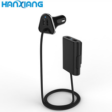 Universal 5v 4 usb port back seat car charger in taxi , smart usb charger station with qc3.0