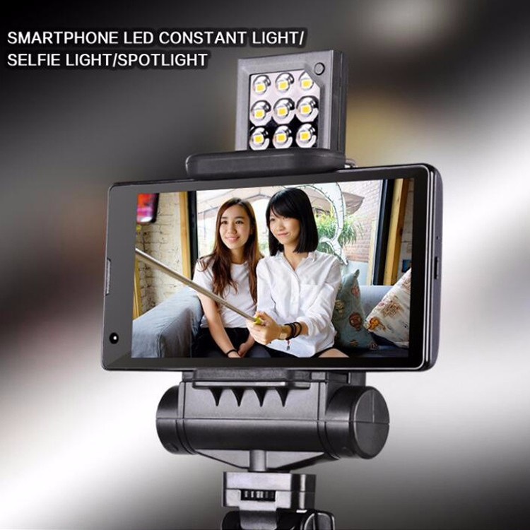 LED Supplement lamp mounting on selfie stick