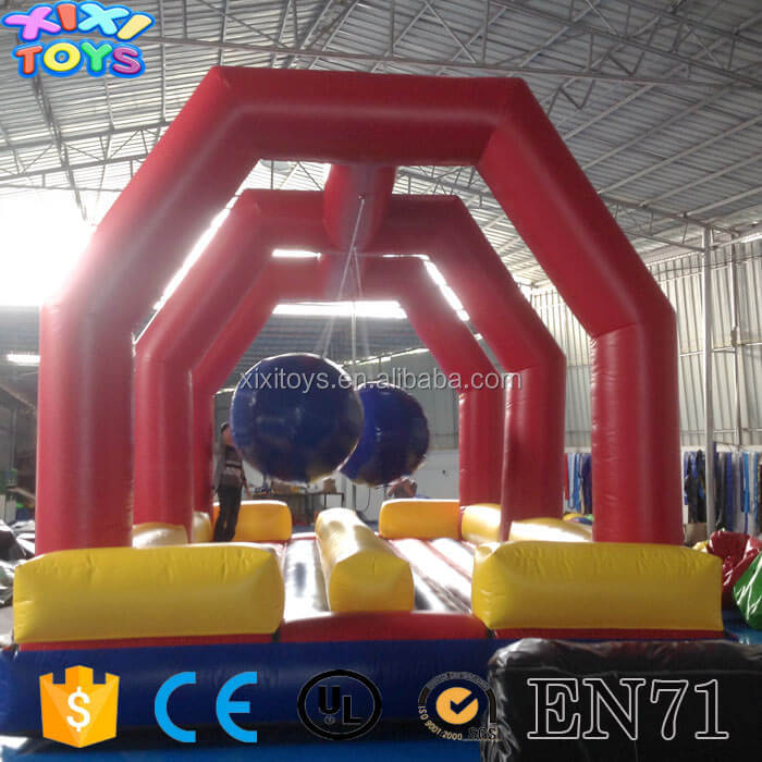 Outdoor inflatable sport game / big ball bouler run game for kids