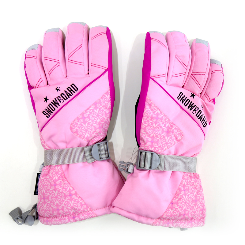 Professional waterproof pink motorcycle glove for girls