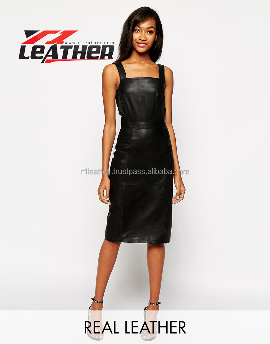 Joint Leather Latest Design Wholesale Sexy Lady Dress