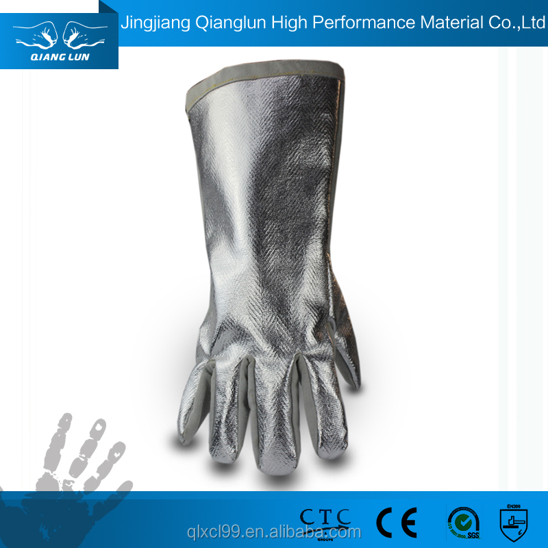 QL design welding long sleeve leather cheap stock working gloves