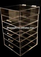 acrylic makeup organizer clear box cosmetic cases/acrylic makeup storage containers