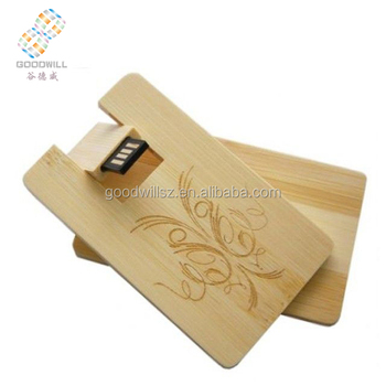 OEM wooden credit/business card USB flash drive 8GB 16gb 32GB
