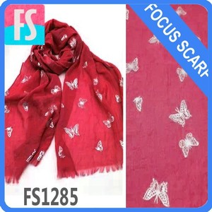 butterfly silver printed scarf 46 colors