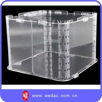 High Quality Clear Acrylic Shoe Display Case Custom Acrylic Shoe Box Storage Boxes