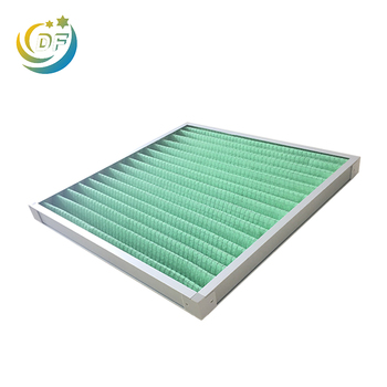 High performance washable coarse pleated air pre filter g4