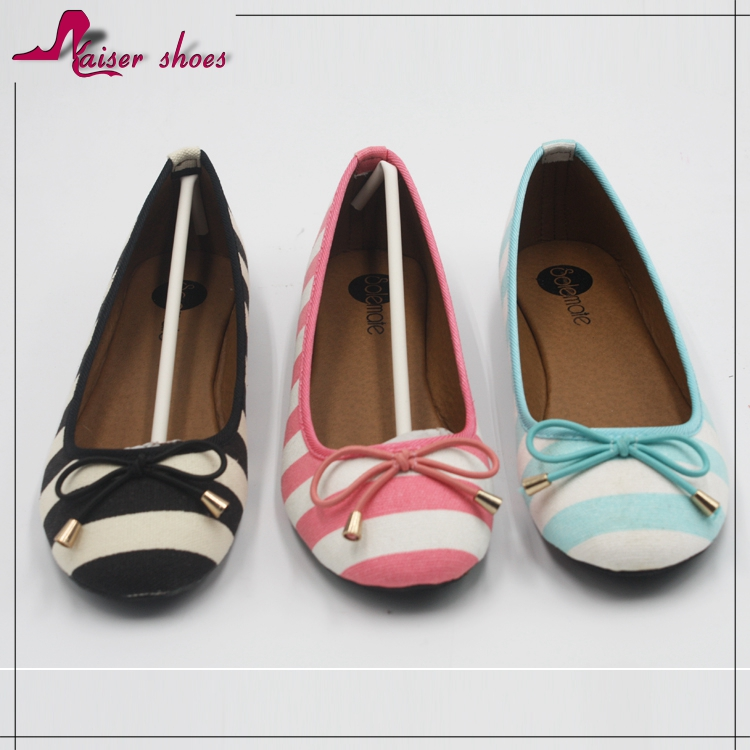 SSK16-119 high quality cotton flat bottom shoes party shoes dance shoes of good design and for girls