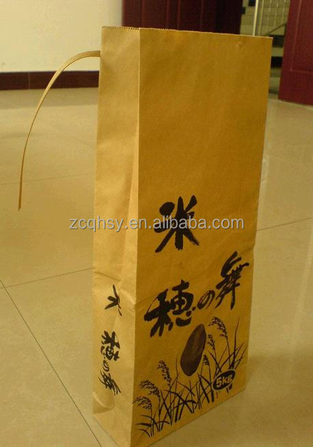 3kg/5kg glutinous rice bag/paper bag for glutinous rice packaging