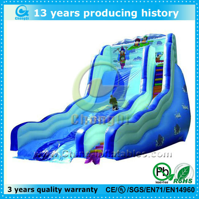 hot inflatable snow slide