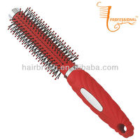 Plastic round vent hair styler brush