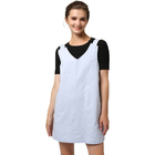 Full cotton suspenders skirt Pure color T-shirt Women's casual Overalls Dresses suit