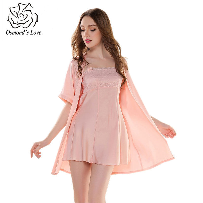Get Quotations · Brands Long Nightgown Female Gowns Nightgown Robe Set  Summer Style Robes For Women Home Clothing Robe 7a8551d94